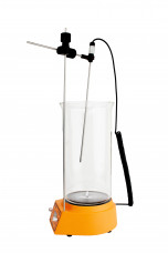 Комплект для удобной работы: магнитная мешалка с подогревом PL-RH atom+датчик PT1000+штатив,  рабочий объем 2 литра