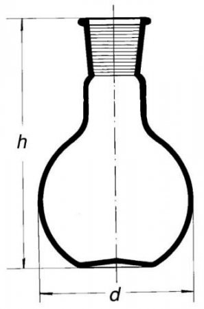 Колба плоскодонная Simax, 2000 мл, шлиф 45/40