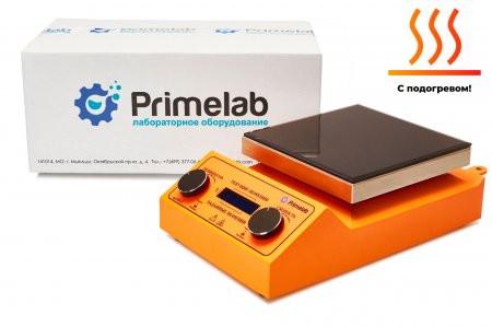 Комплект для удобной работы: программируемая магнитная мешалка с подогревом PL-R-steps-H +датчик PT1000+штатив Primelab,  рабочий объем 20 литров
